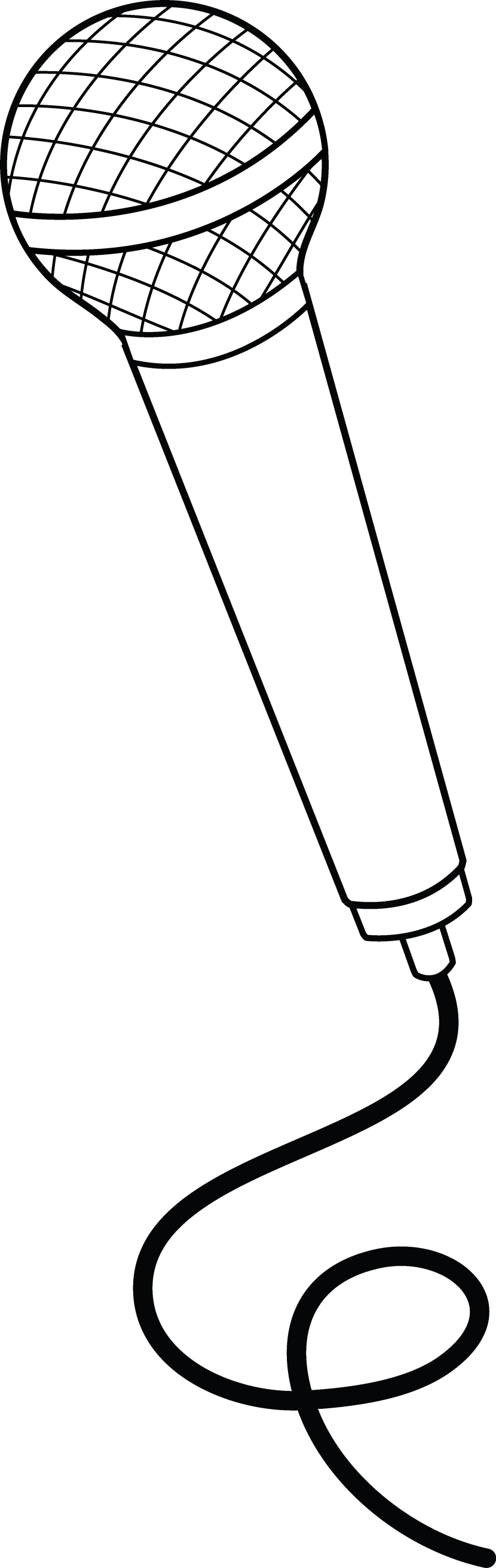 Microphone clipart drawing.  collection of transparent