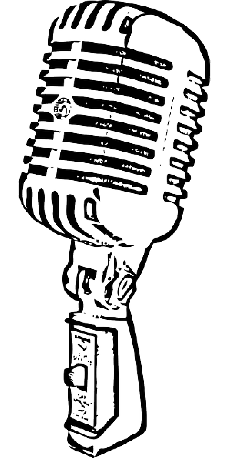 collection of outline. Microphone clipart drawing