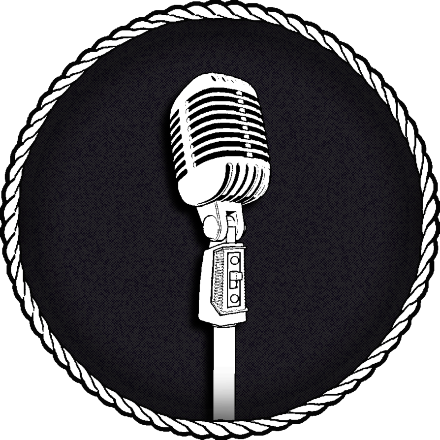 Old time logo by. Microphone clipart group