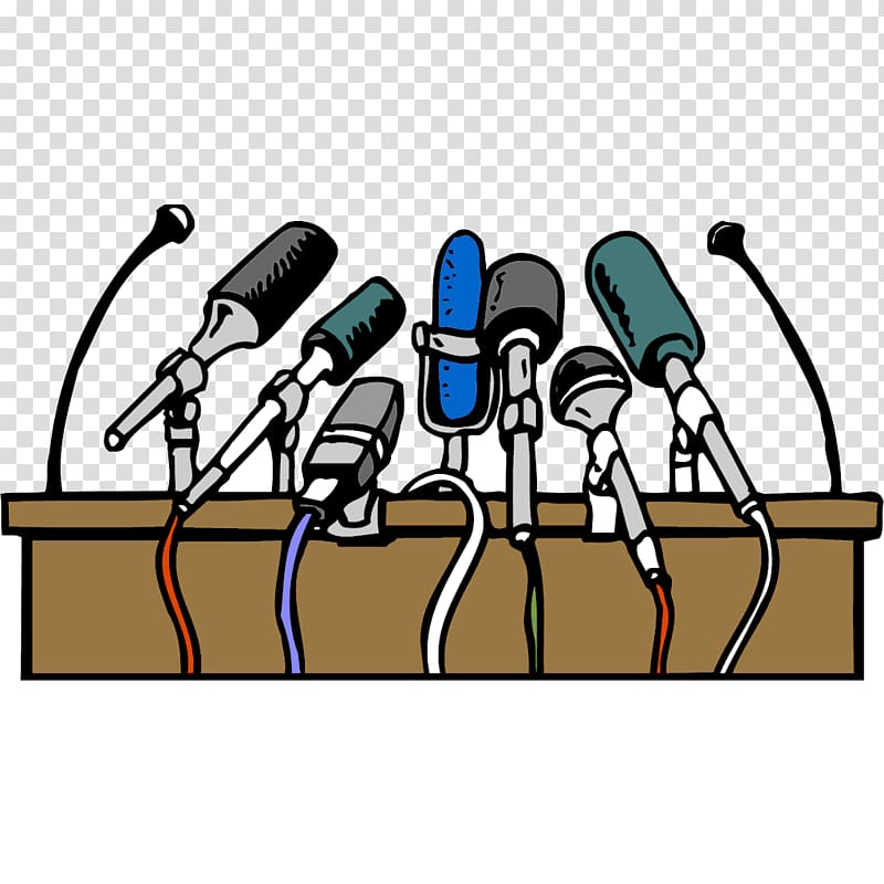 Blog news printing press. Microphone clipart media