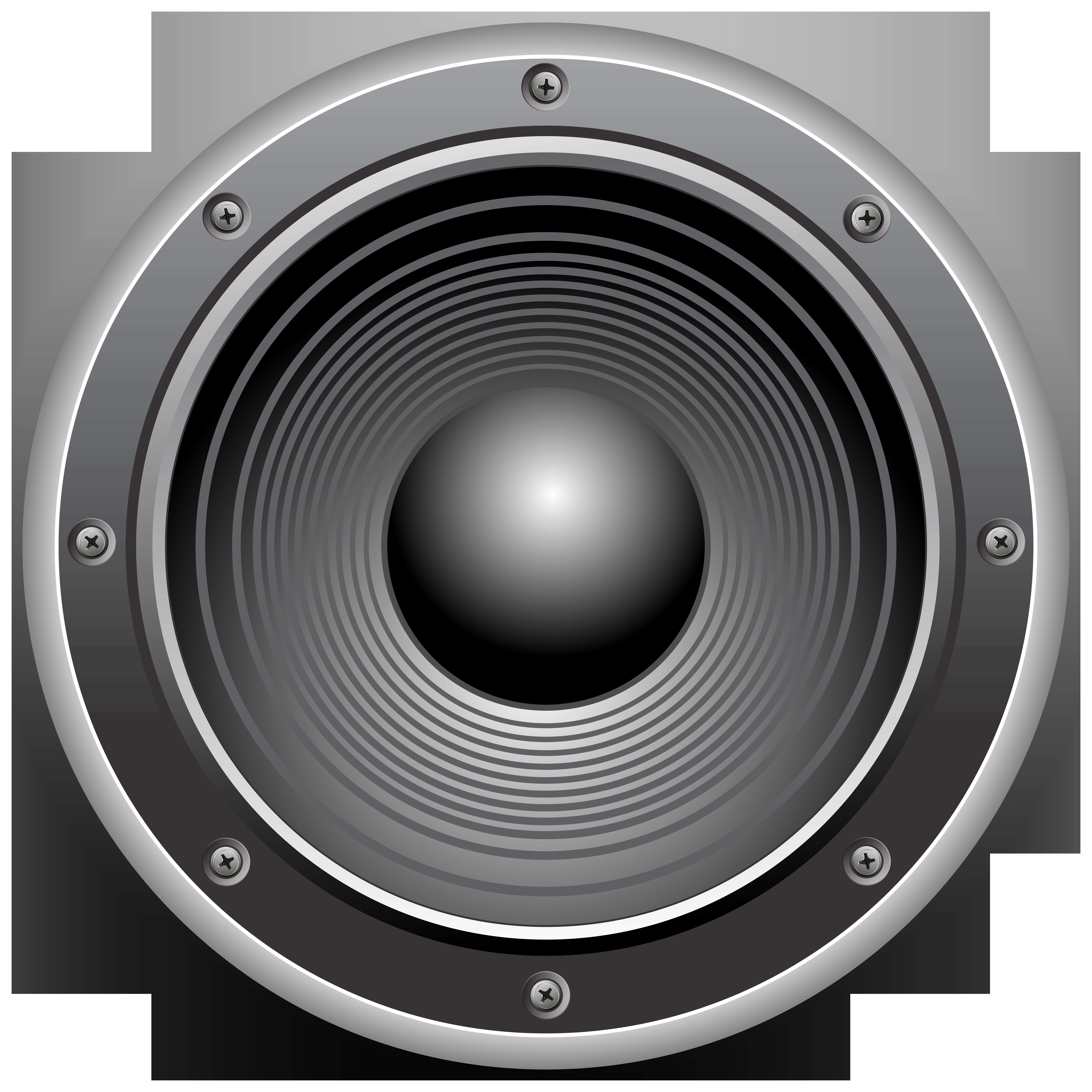 Speakers clipart woofer. Loudspeaker microphone clip art