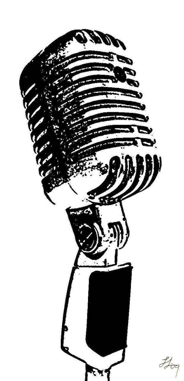 microphone logo - Поиск в Google | Microfonos vintage, Microfono dibujo,  Siluetas
