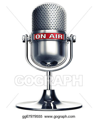 Stock illustration gg gograph. Microphone clipart on air