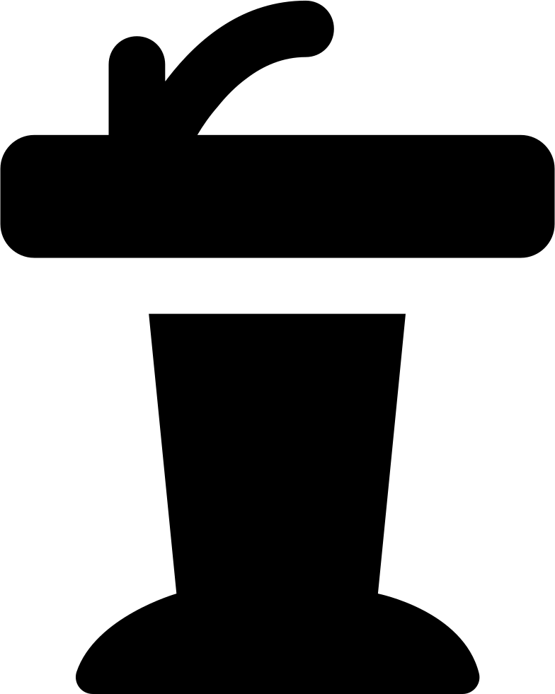 Presentation with a svg. Microphone clipart podium