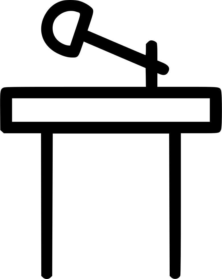 Microphone clipart podium. Rostrum dias stage conference