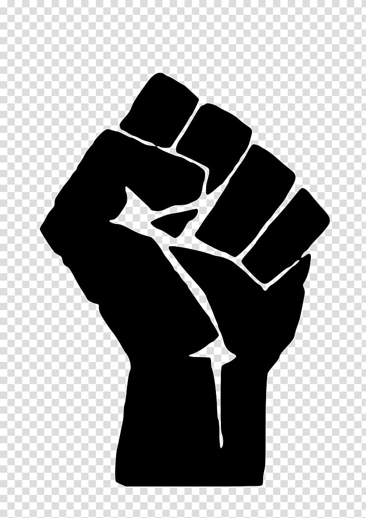 Raised fist olympics power. Panther clipart black panther party