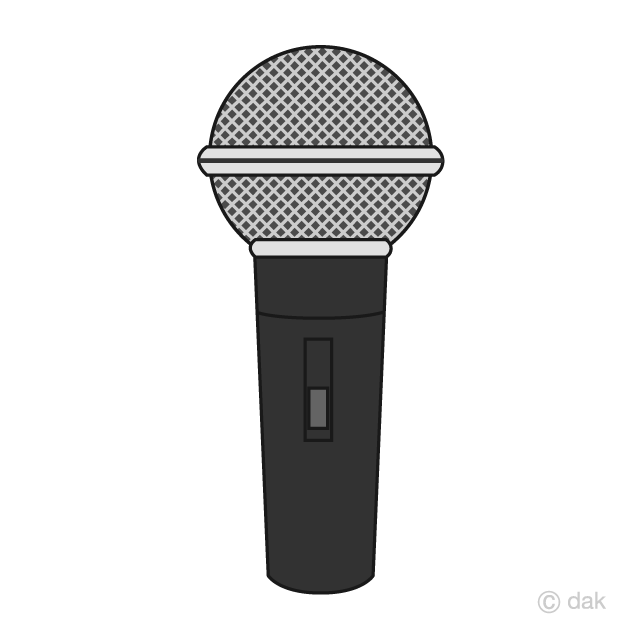 Free picture illustoon . Microphone clipart simple