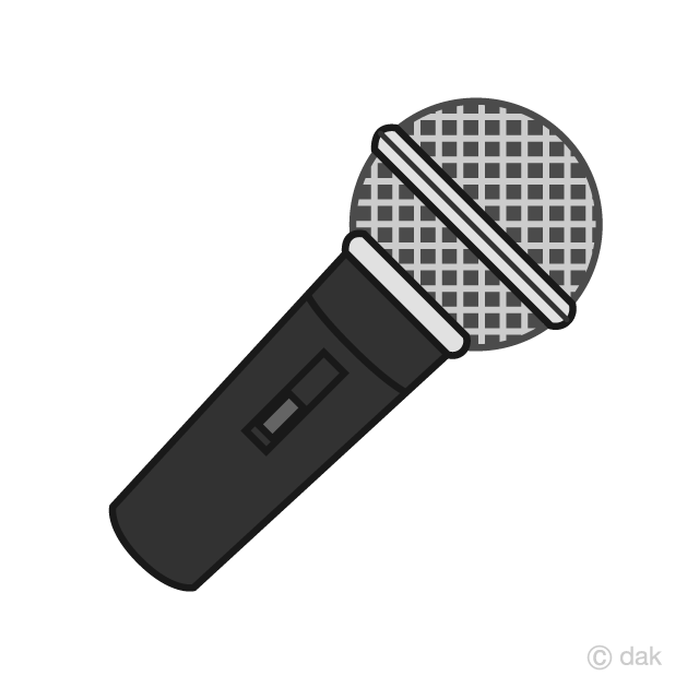 Microphone clipart simple. Black free picture illustoon