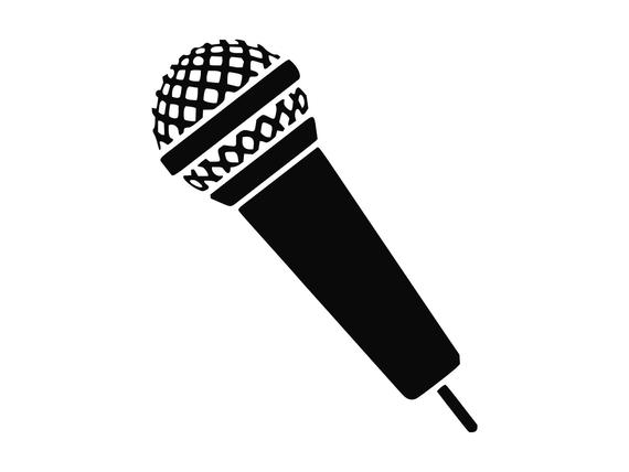 Singer clipart microphone. Svg music silhouette cutting