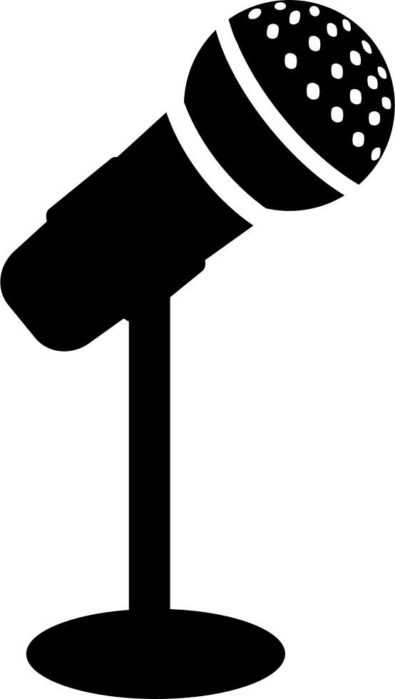 For a or conference. Singer clipart microphone