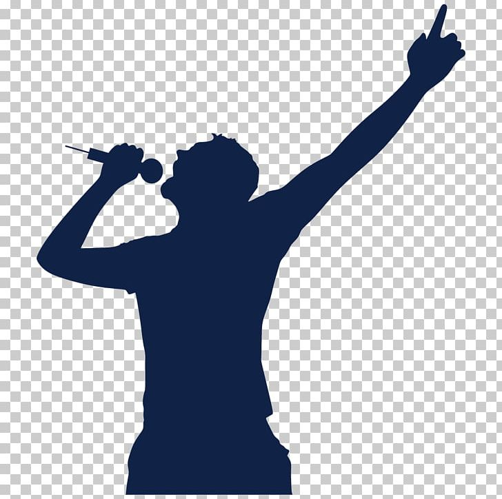 Singing png arm art. Singer clipart microphone