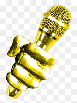 In hand png vectors. Microphone clipart sparkle