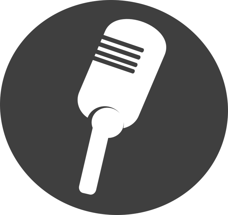 Drawing black and white. Microphone clipart stage microphone