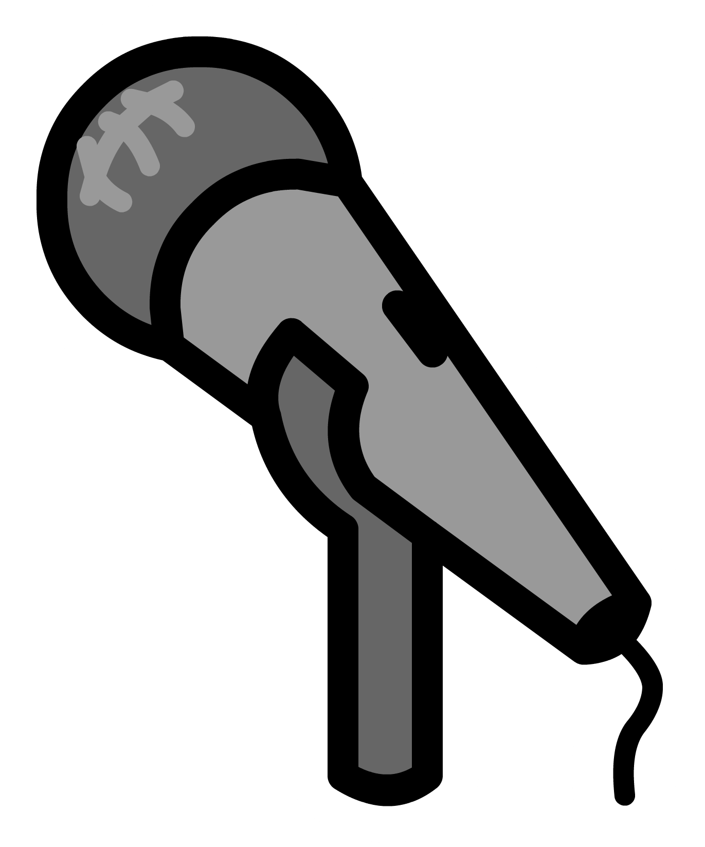 Microphone clipart stage microphone. Pin club penguin wiki
