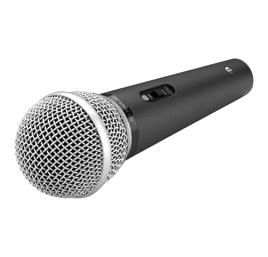 Microphone clipart stage microphone. On isolated background by