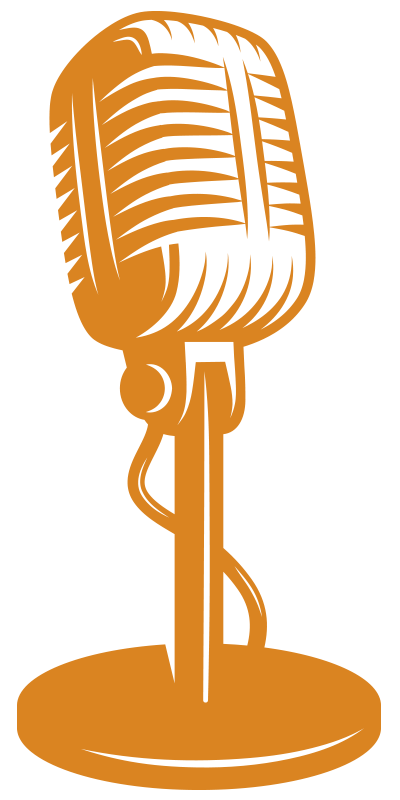 Let s think on. Microphone clipart talk show