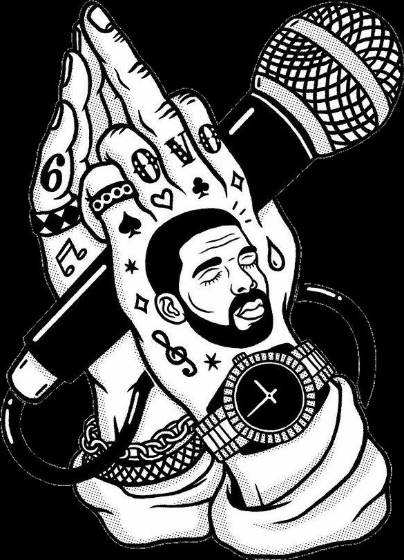 Microphone clipart tumblr transparent. Drake girls es blackandwhite