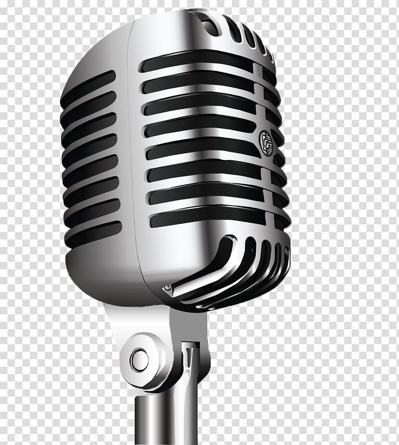 Gray condenser radio . Microphone clipart wireless microphone