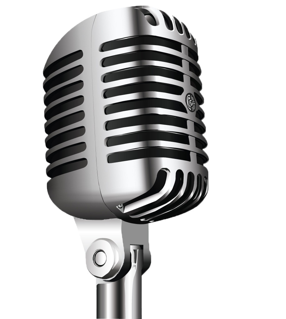 Microphone clipart wireless microphone. Radio drawing clip art