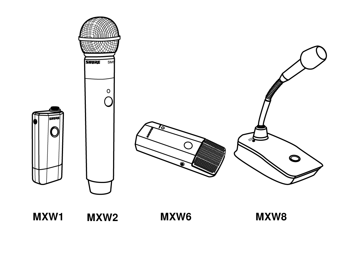 Shure publications user guides. Microphone clipart wireless microphone