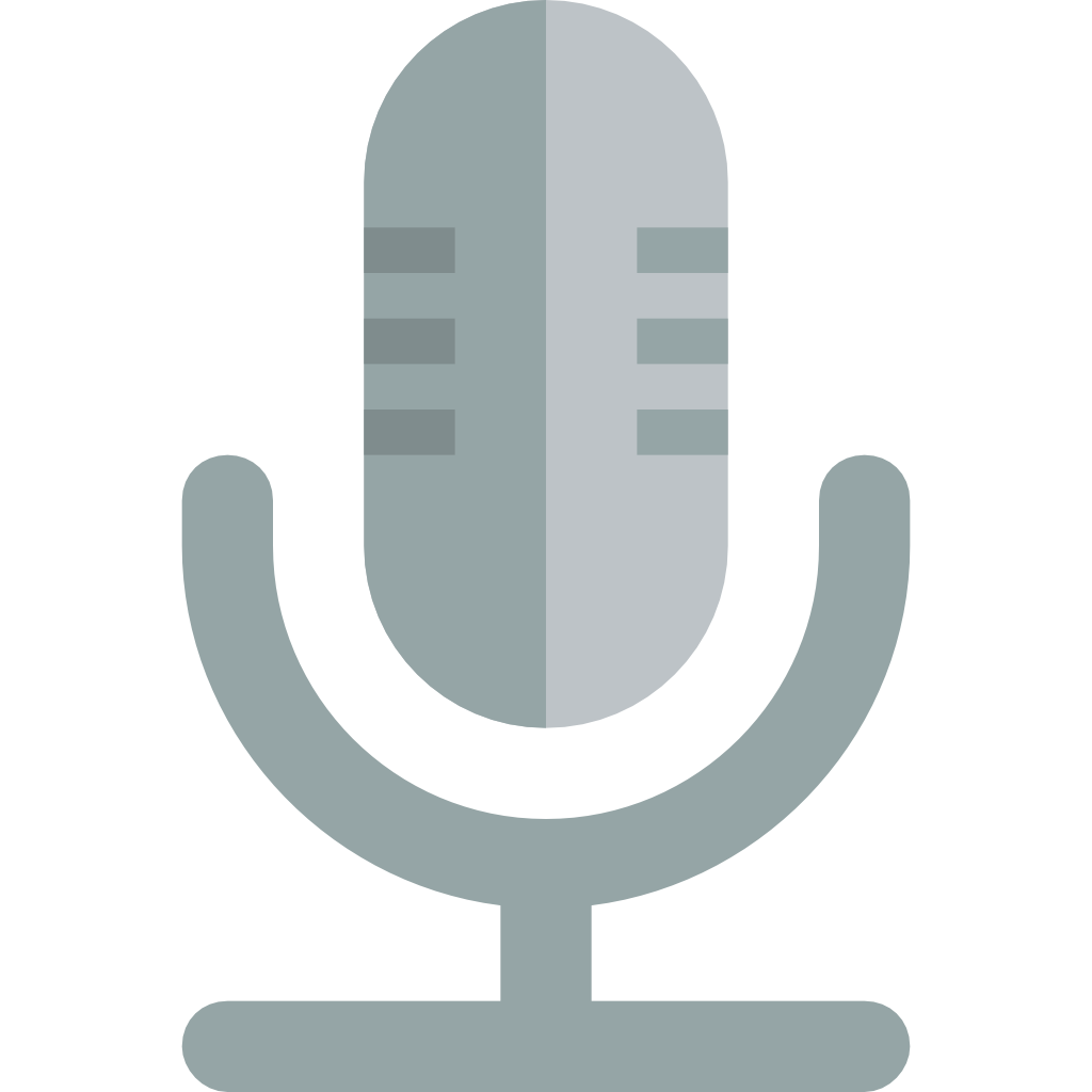 Small flat iconset paomedia. Microphone icon png