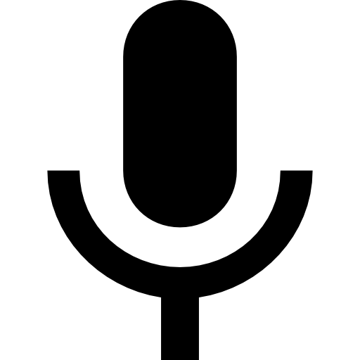 Voice message button free. Microphone icon png