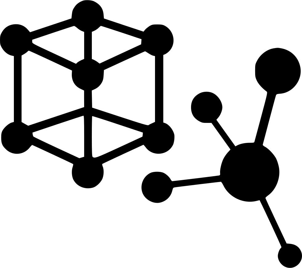 Atoms elements chemistry bonds. Spaceship clipart physics