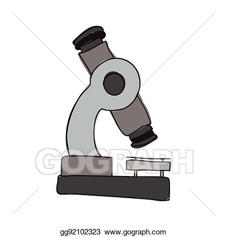 Microscope clipart colorful. Vector silhouette of tool