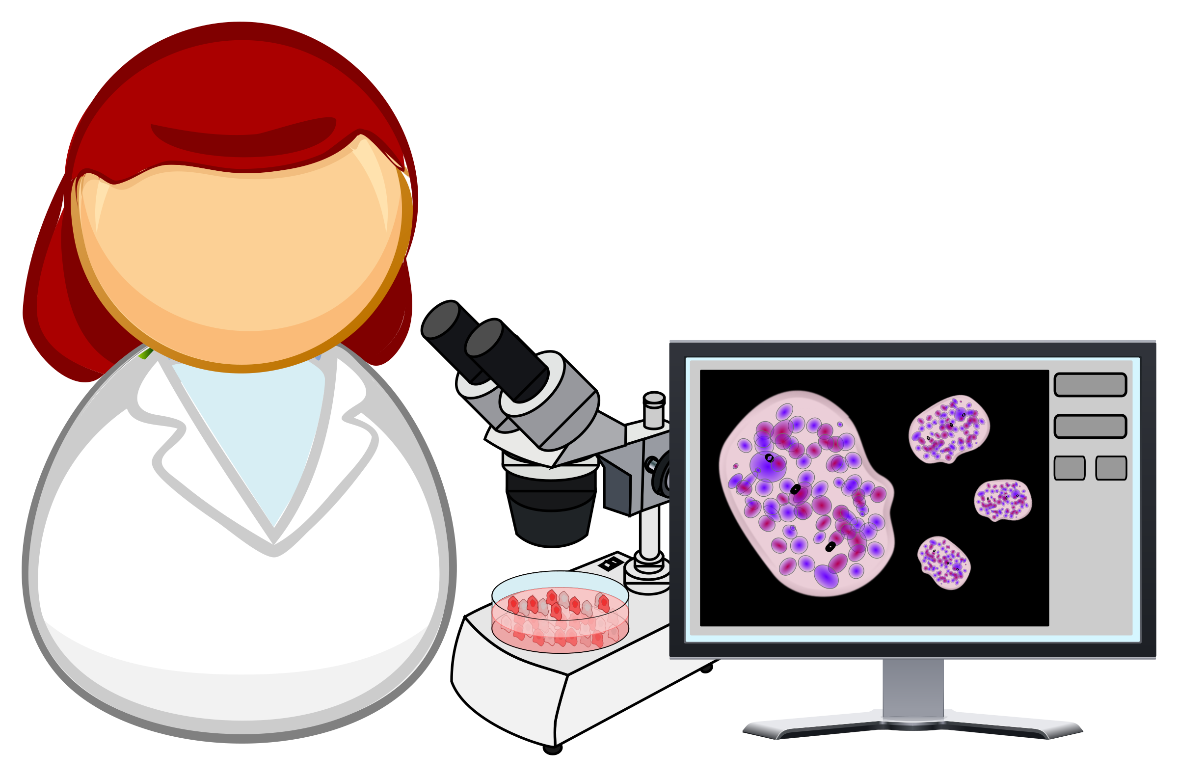 Microbiologist big image png. Working clipart office work