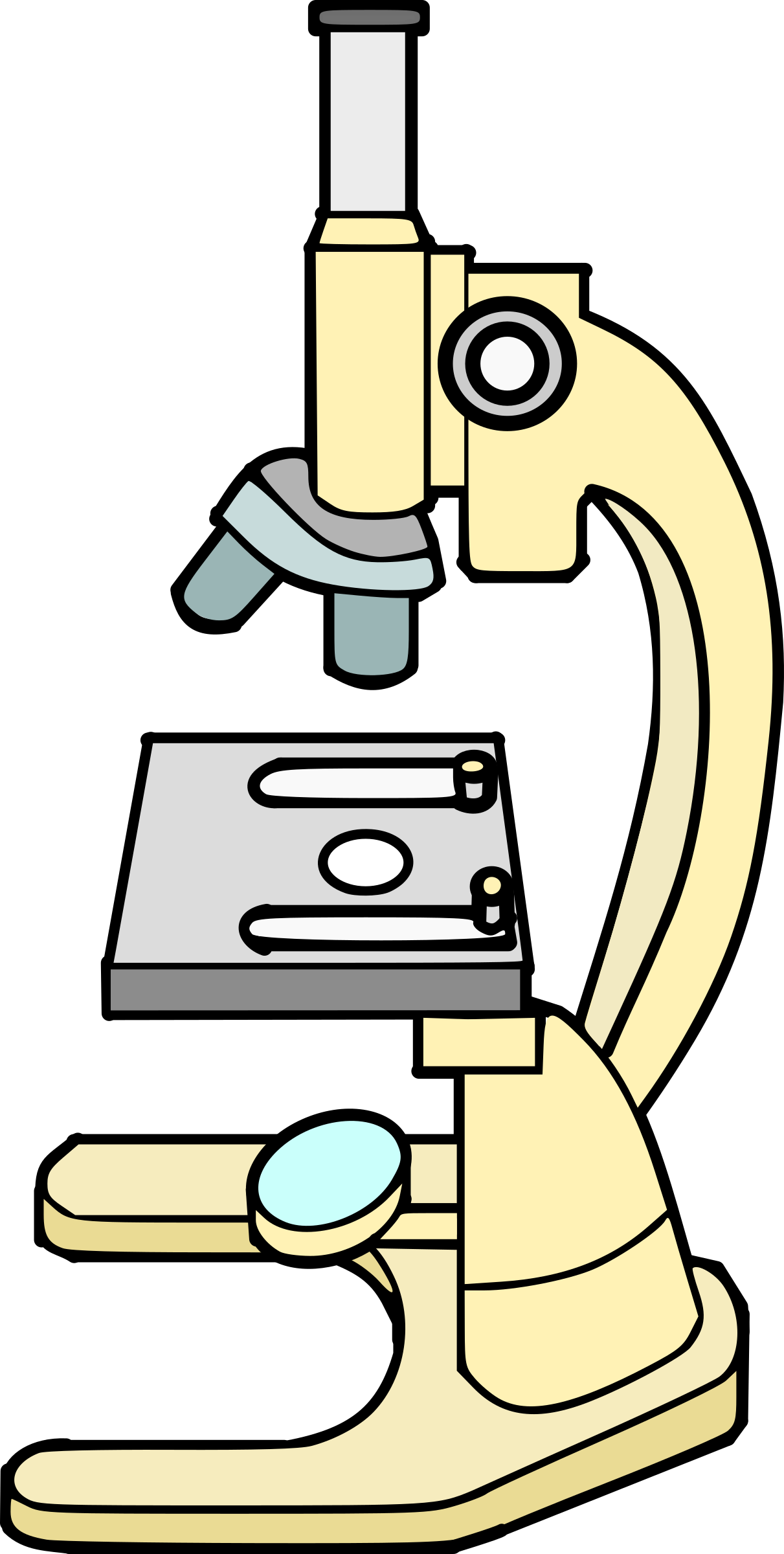 Scientist clipart microscope. Big image png