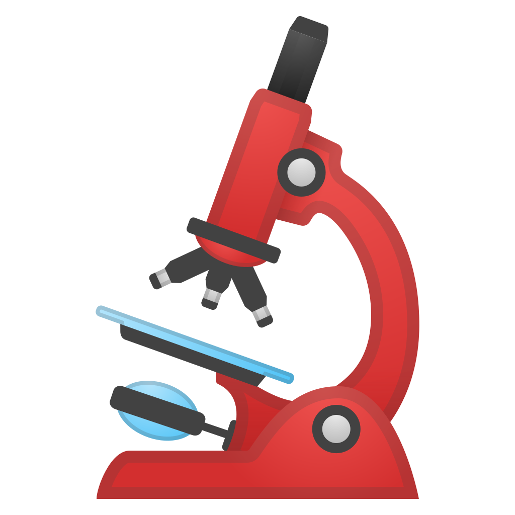 Icon noto emoji objects. Microscope clipart science object