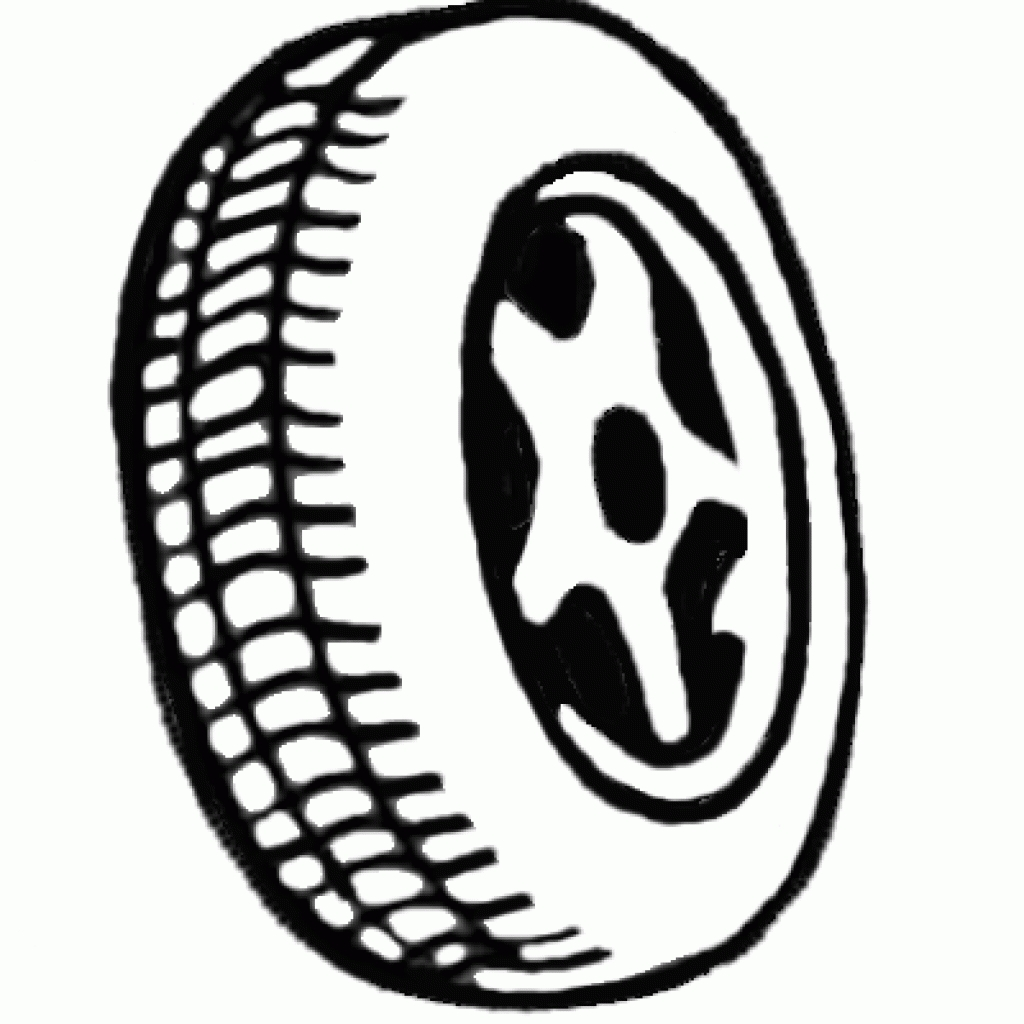 Tractor black and white. Wheel clipart rubber tire