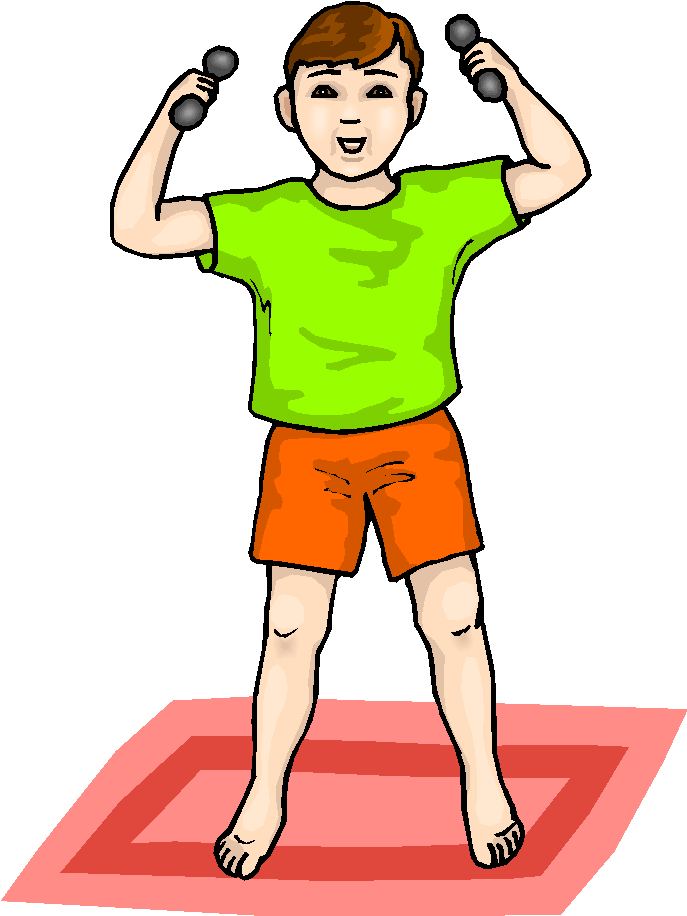 Boy lifting weights free. Weight clipart strong