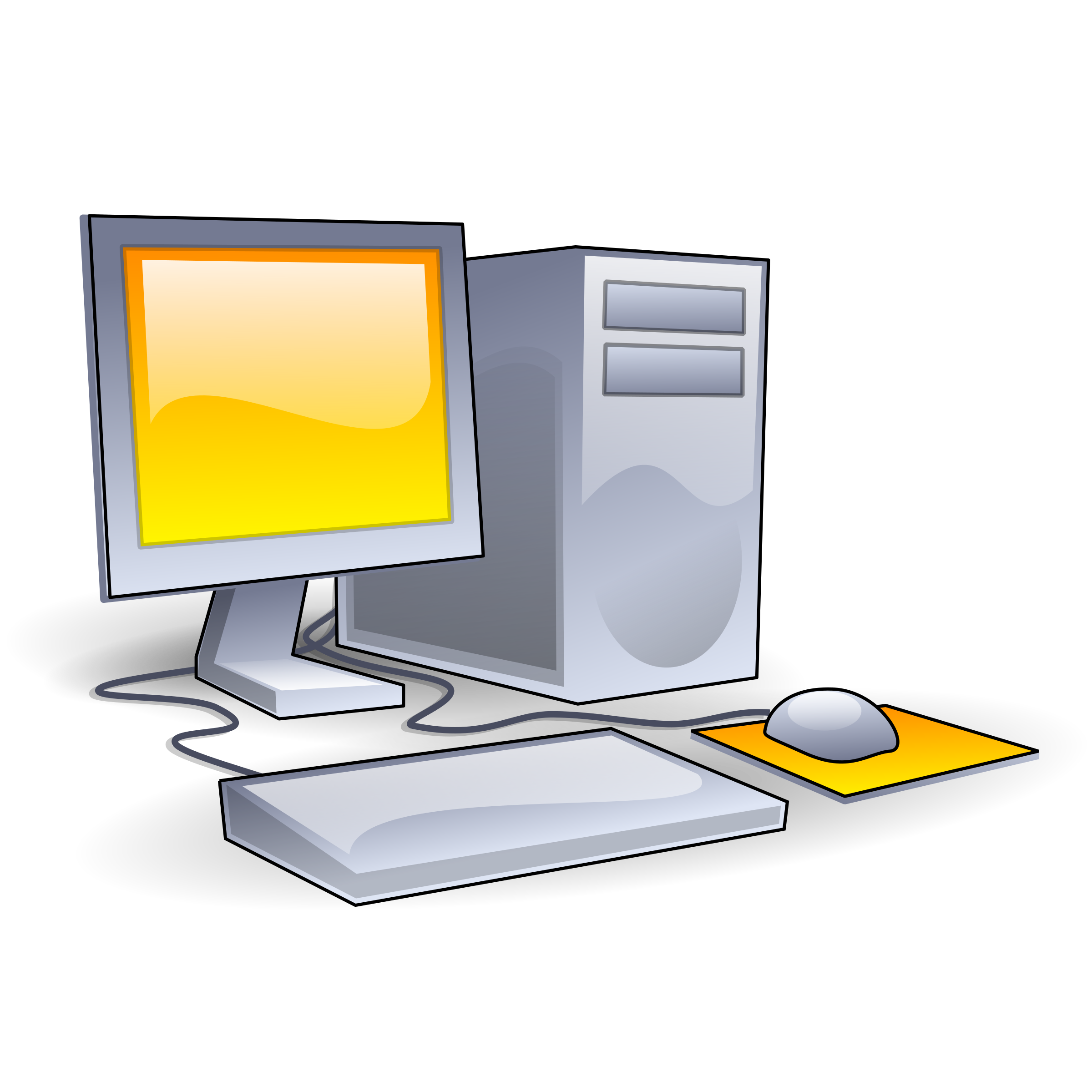 Computer aj ashton big. Pc clipart hardware