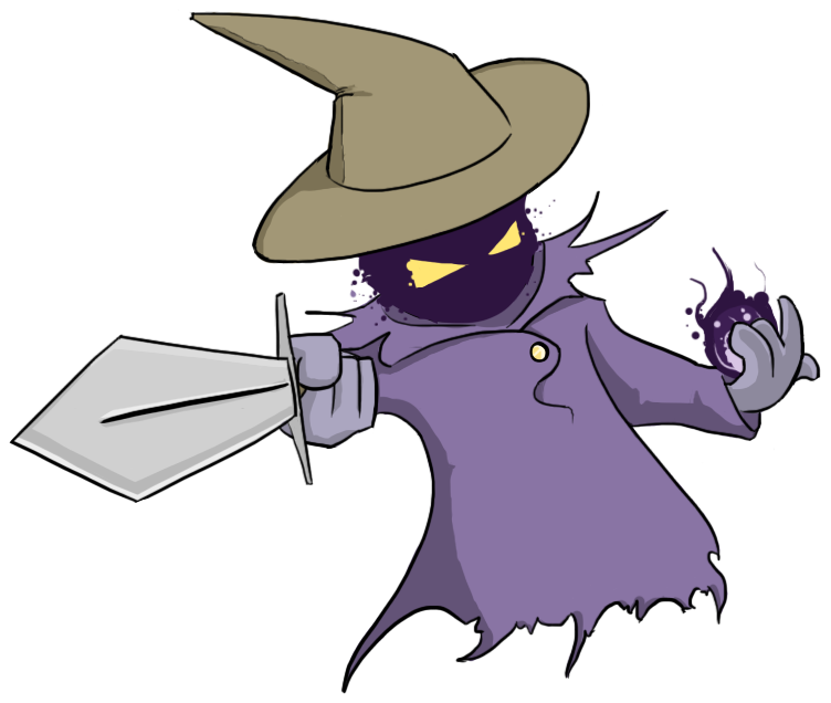 Purple clipart wizard.  collection of evil