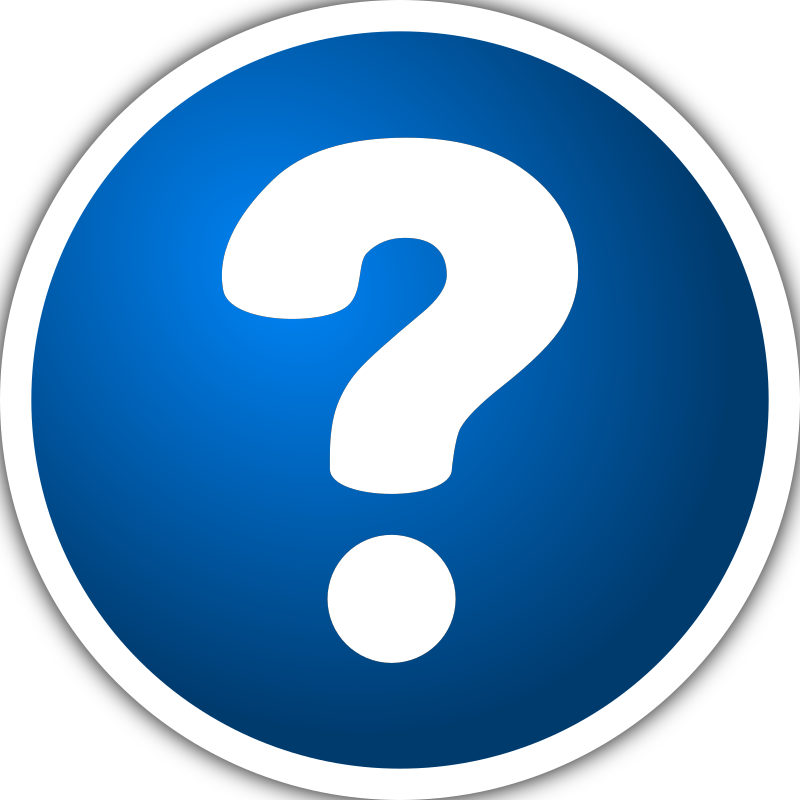 Icon with mark medium. Number 1 clipart question