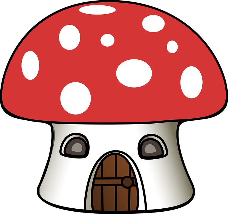 Mushrooms clipart cute sun cartoon. Imagen gratis en pixabay
