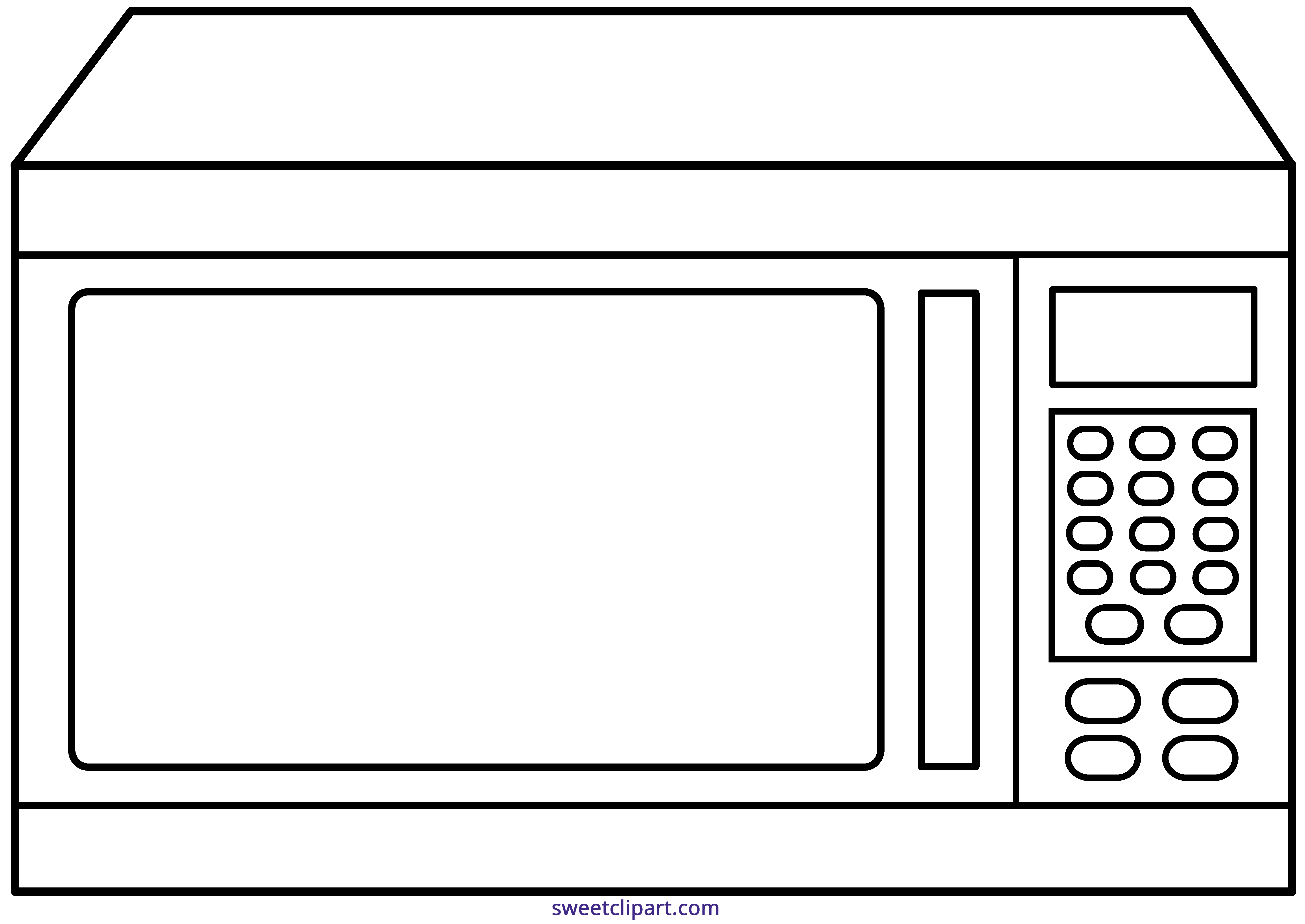 Outline sweet clip art. Microwave clipart