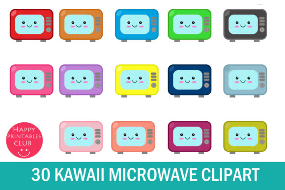 Microwave clipart cute. Kawaii