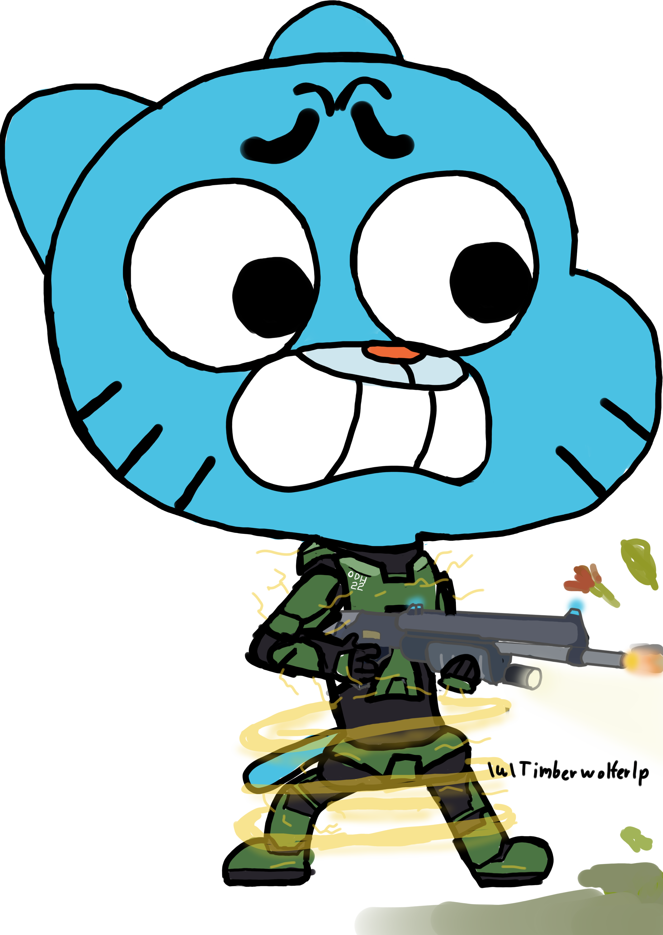 Master chief because the. Microwave clipart gumball