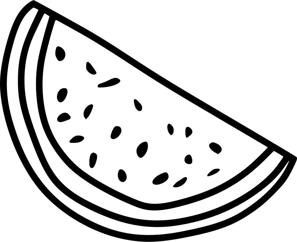 Svg png icon free. Watermelon clipart line drawing
