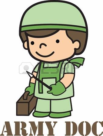 . Military clipart army doctor