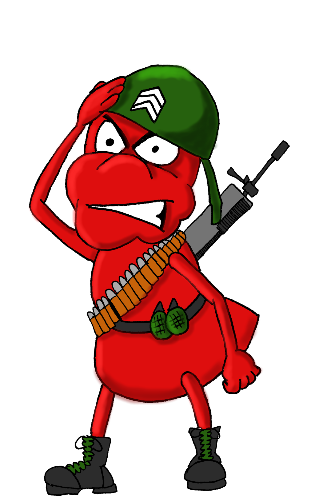 Ant by dan morrow. Military clipart army man
