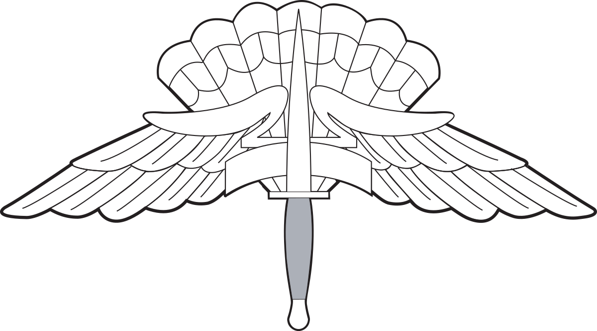 Wing clipart jumpmaster. Paratrooper drawing at getdrawings