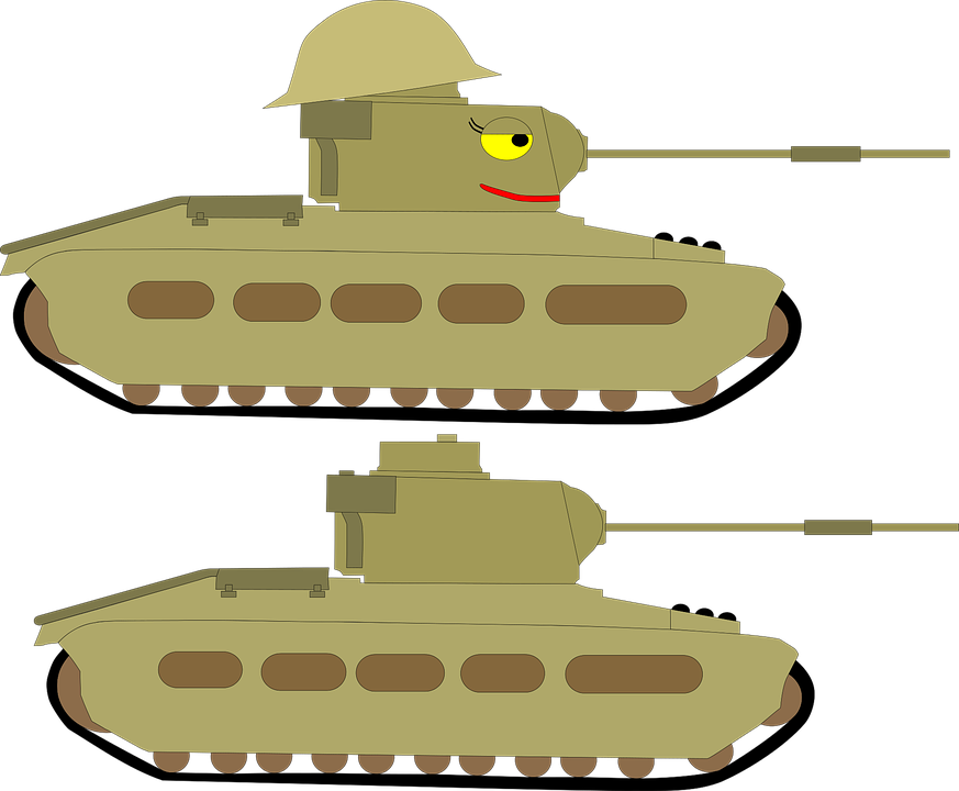 Military clipart cute. Tank cartoon free on