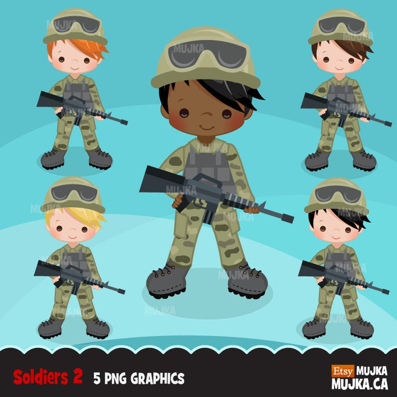 Military clipart cute. Army little soldier boy