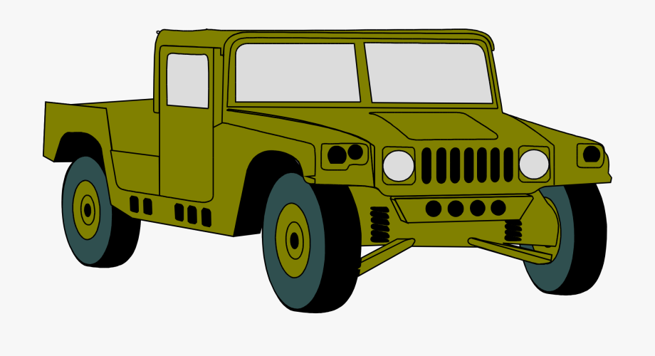Humvee hummer vehicle clip. Military clipart jeep army