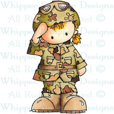 Girl rubber stamps stamp. Military clipart military child