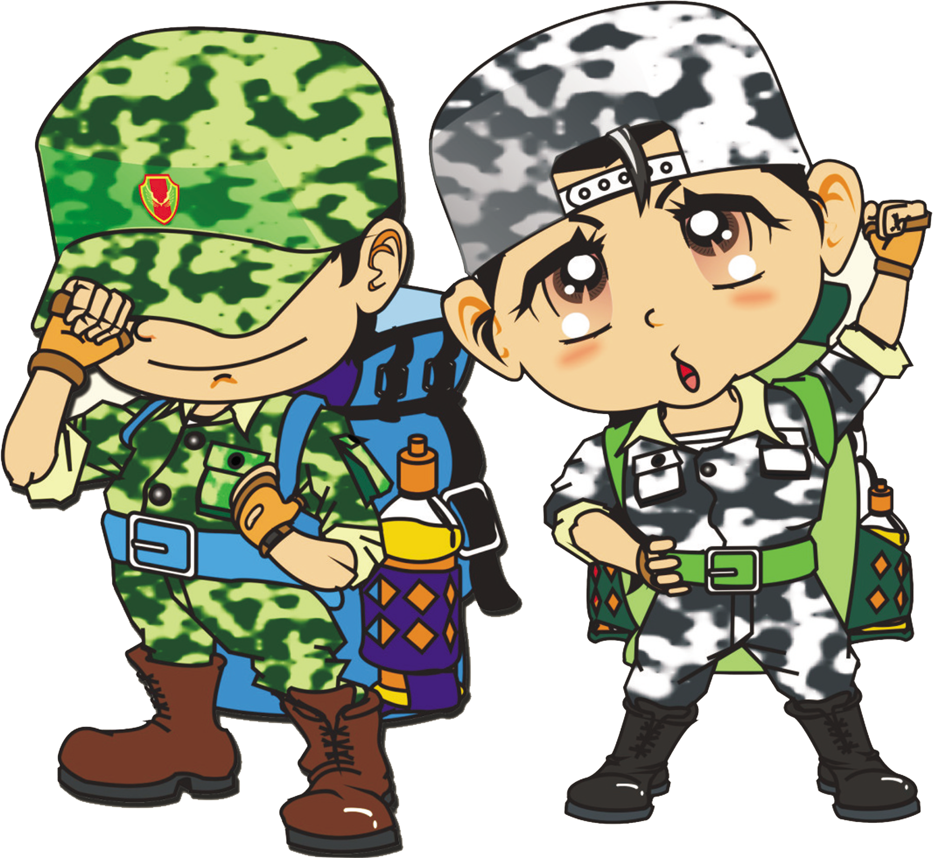 military clipart military child
