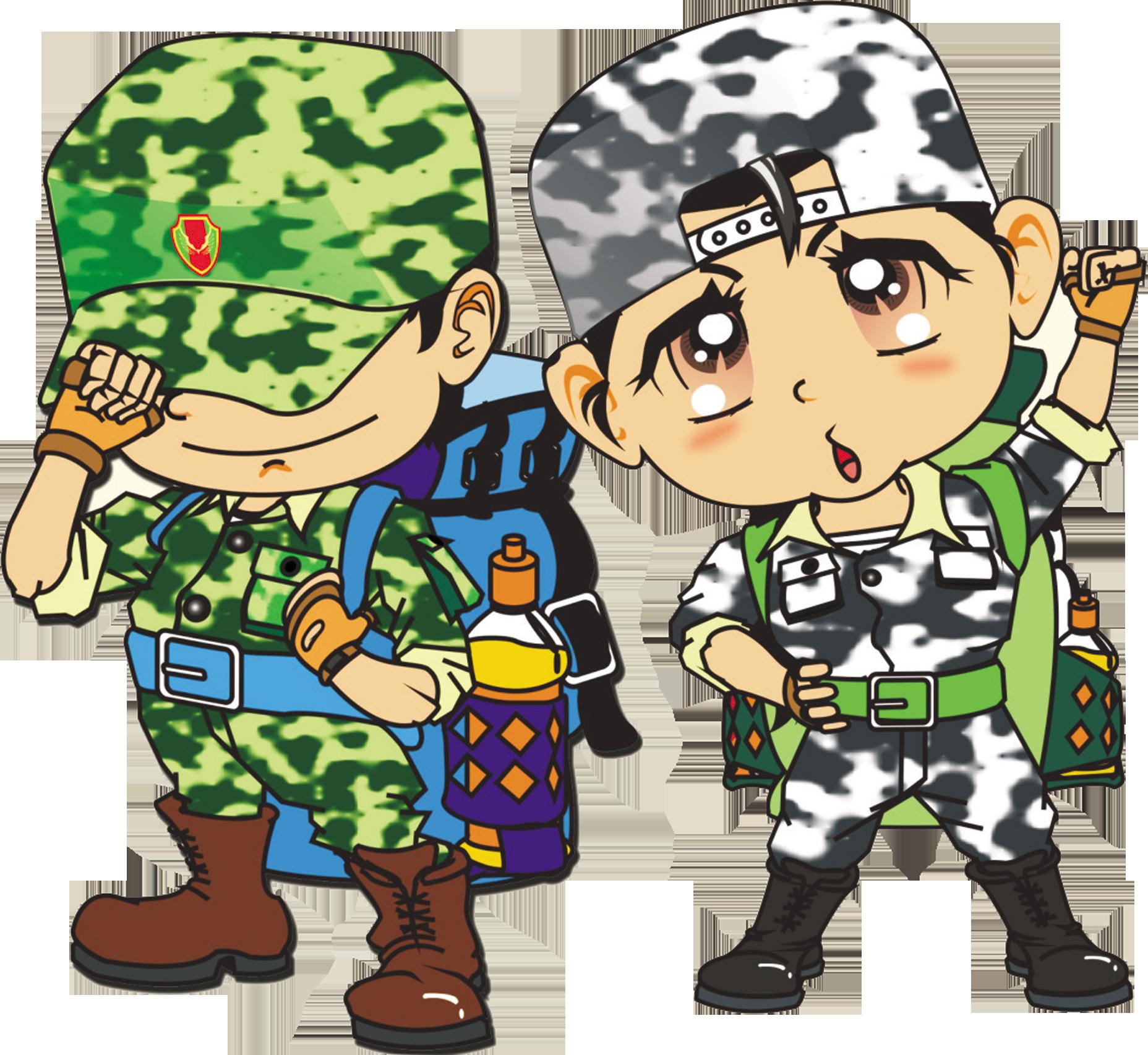 Summer camp cartoon uuefuucueubuebufueeu. Military clipart military child